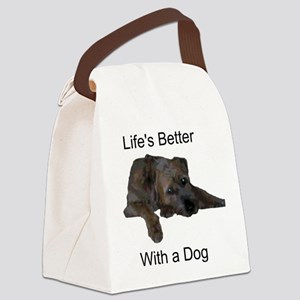 Life's Better With a Dog Canvas Lunch Bag
