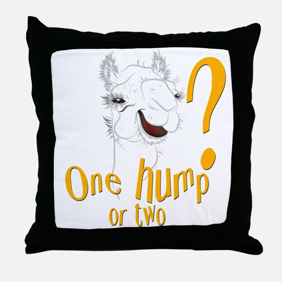 Hump Day Camel Spoof Throw Pillow