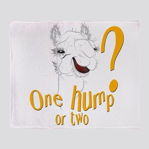 Hump Day Camel Spoof Throw Blanket