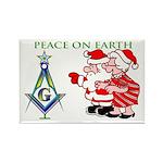 Masonic Peace on Earth Rectangle Magnet
