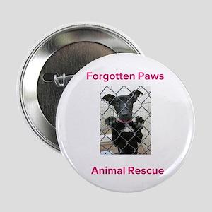 """Forgotten Paws Animal rescue 2.25"""" Button"""