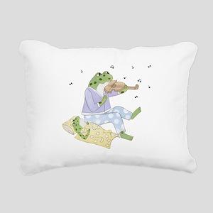 Music Frogs Rectangular Canvas Pillow