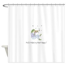 Personalized Frog - Music Shower Curtain