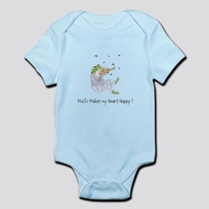Personalized Music Frog Infant Bodysuit