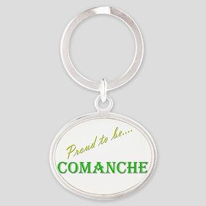 Comanche Oval Keychain