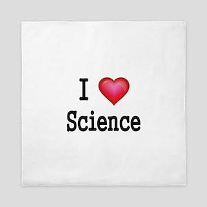 I LOVE SCIENCE Queen Duvet