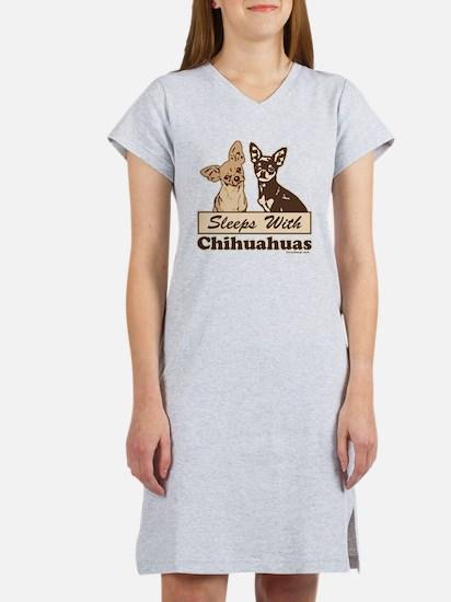 Sleeps With Chihuahuas Women's Nightshirt