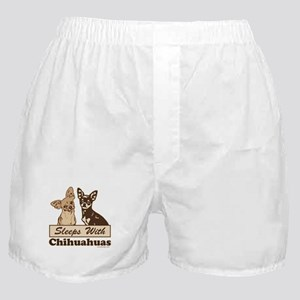 Sleeps With Chihuahuas Boxer Shorts