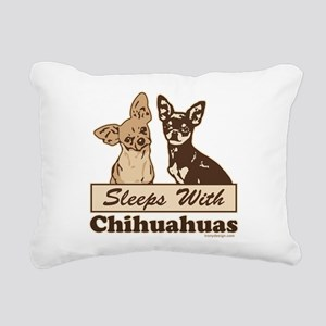Sleeps With Chihuahuas Rectangular Canvas Pillow