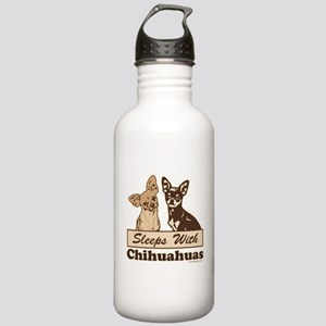 Sleeps With Chihuahuas Stainless Water Bottle 1.0L
