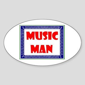 MUSIC MAN Oval Sticker