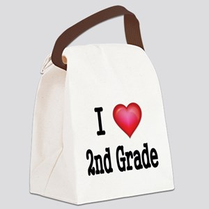 I LOVE 2ND GRADE Canvas Lunch Bag