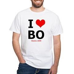 I LOVE BO White T-Shirt