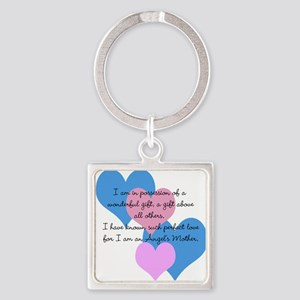 Angel's Mother Square Keychain