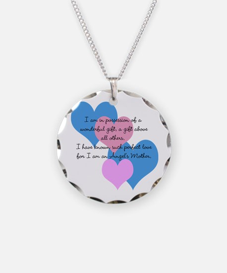Angel's Mother Necklace Circle Charm