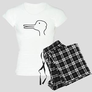 Rabbit Duck Optical Ilusion Women's Light Pajamas