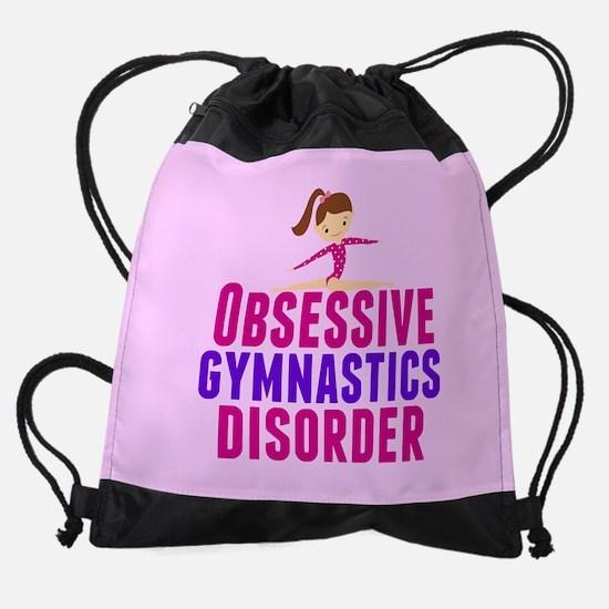 Gymnastics Obsessed Drawstring Bag