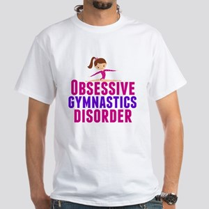 Gymnastics Obsessed White T-Shirt