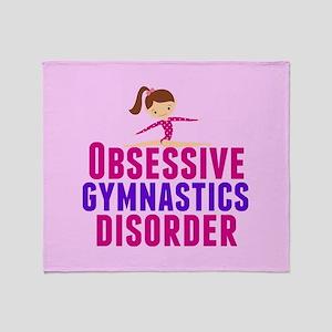 Gymnastics Obsessed Throw Blanket