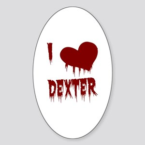 I Love Dexter Sticker (Oval)