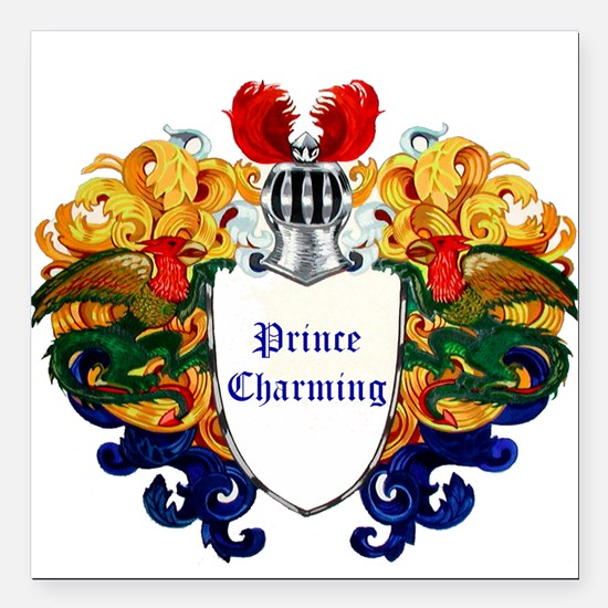 "Prince Charming Square Car Magnet 3"" x 3"""