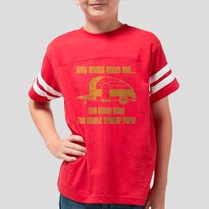trans trailer park orange Youth Football Shirt