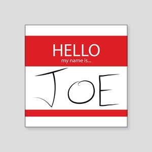 Cup of Joe: Name Tag Sticker