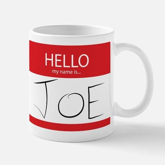 Cup of Joe: Name Tag Mug