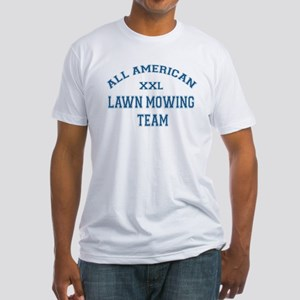 AA Lawn Mowing Team Fitted T-Shirt