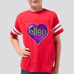ellen Heart Youth Football Shirt