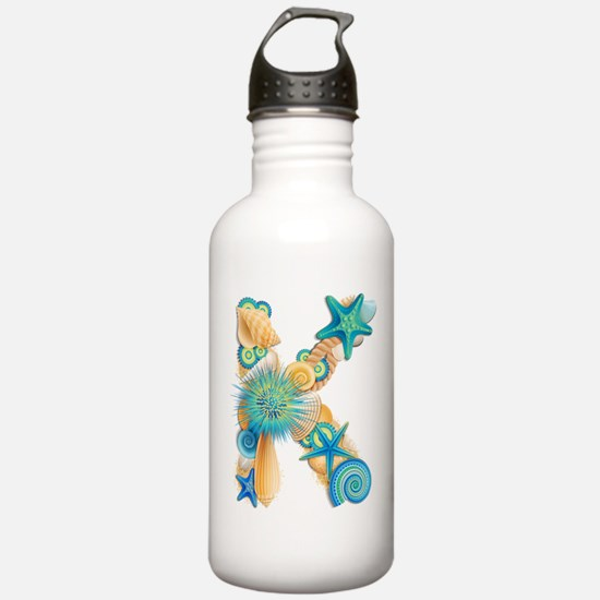 Beach Theme Initial K Water Bottle