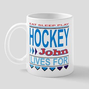 John Lives for Hockey Mug