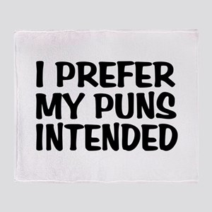 Puns Intended Throw Blanket