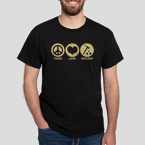 Peace Love Geology Dark T-Shirt