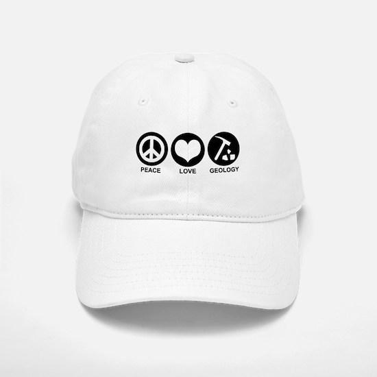 Peace Love Geology Baseball Baseball Cap