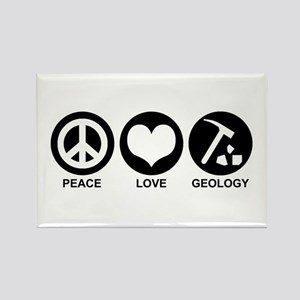 Peace Love Geology Rectangle Magnet