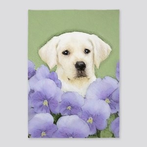 Labrador Retriever Puppy 5'x7'Area Rug