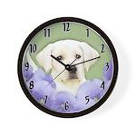 Labrador Retriever Puppy Wall Clock