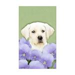 Labrador Retriever Puppy Sticker (Rectangle 10 pk)