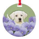 Labrador Retriever Puppy Round Ornament