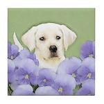 Labrador Retriever Puppy Tile Coaster