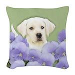 Labrador Retriever Puppy Woven Throw Pillow