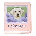 Labrador Retriever Puppy baby blanket