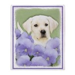 Labrador Retriever Puppy Throw Blanket