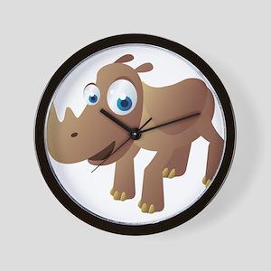 Cartoon Rhino Wall Clock