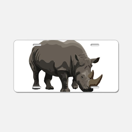 Classic Rhino Aluminum License Plate