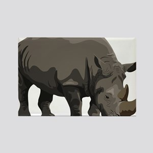 Classic Rhino Rectangle Magnet