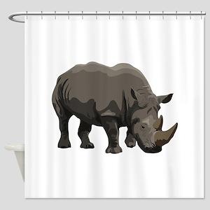 Classic Rhino Shower Curtain