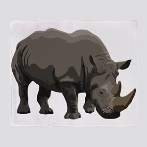Classic Rhino Throw Blanket