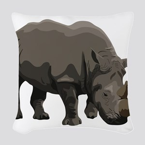 Classic Rhino Woven Throw Pillow